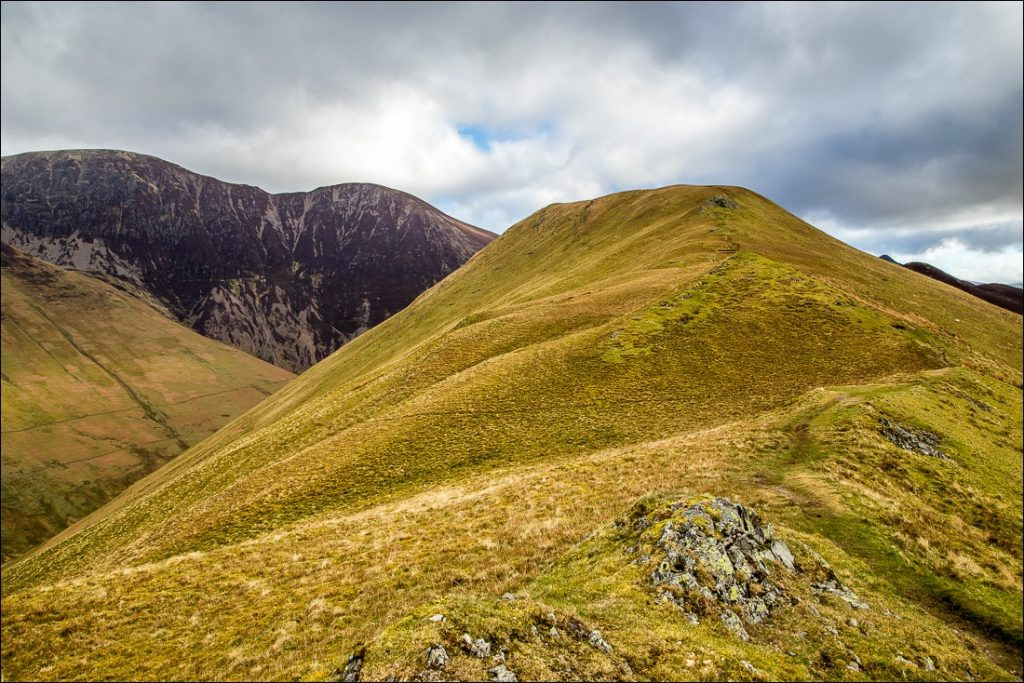 The ridge on the way to Ard Crags in the Newlands Valley.