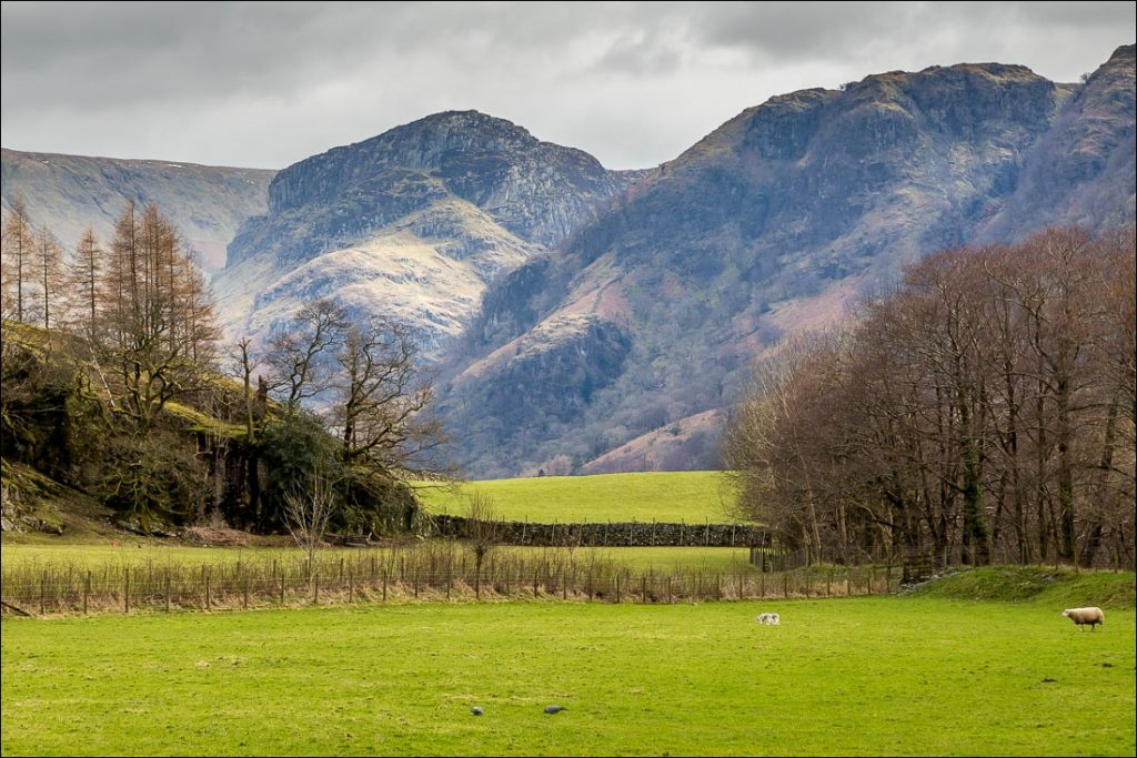 Looking across to Eagle Crag in Borrowdale, Cumbria