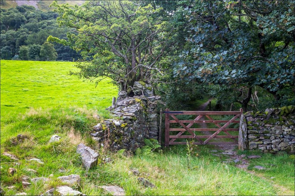Walk around Crummock Water. The gate at Park Beck.