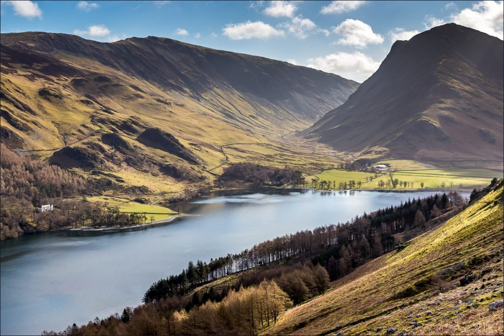Fleetwith Pike looking over the head of Buttermere.
