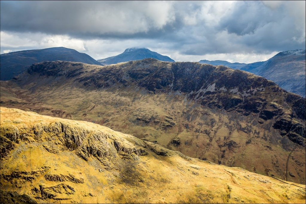 View of Yewbarrow and neighbouring Wasdale fells