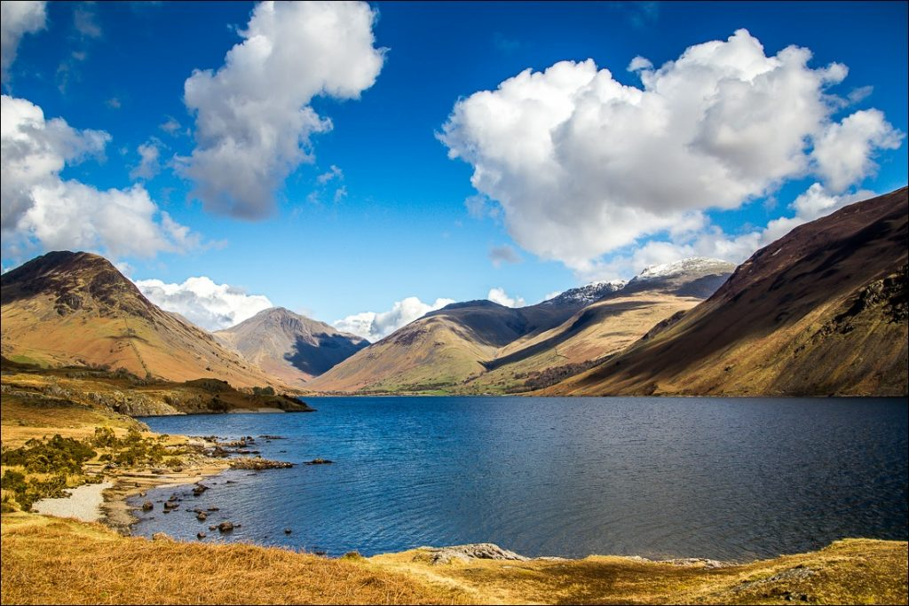 Looking along the shores of Wastwater.