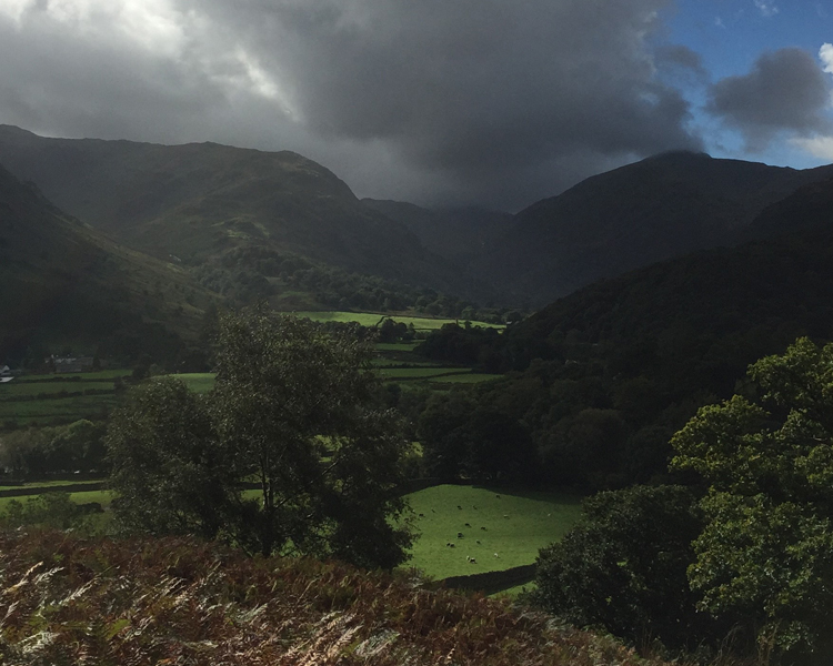 Cloud passing through the Borrowdale Valley