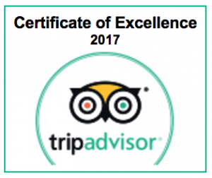 Trip Advisor Certificate of Excellence 2017
