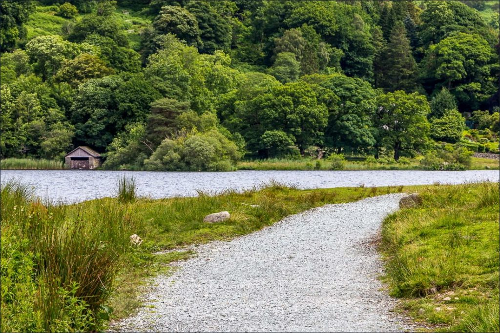 A view over the tranquil shores of Rydal Water