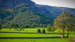View from HazelBank Country House of the Borrowdale Valley