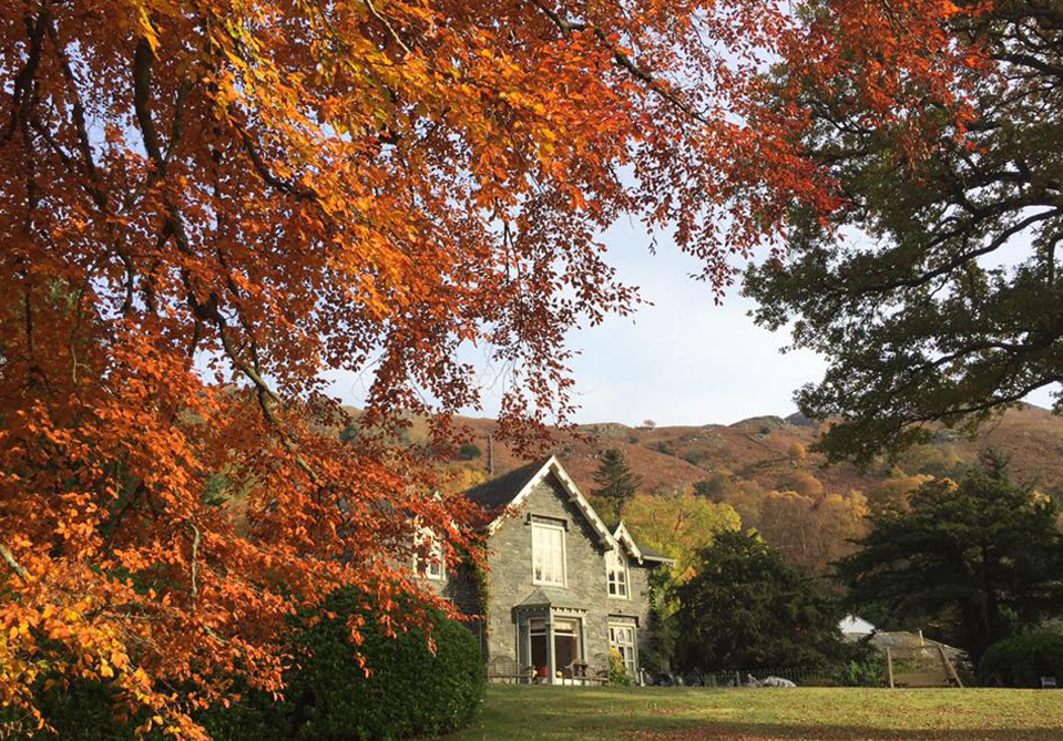 View of Hazel Bank Country House in the Autumn