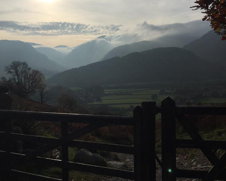 A misty morning on a Borrowdale walk. Overlooking the valley.